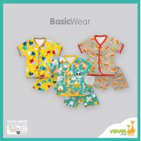 Velvet Junior Setelan Baju Pendek KD NB/S/M/L (3 STEL)