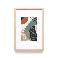 Poster Hiasan Dinding Tropical Minimalis Wall Art Decor Bingkai kayu