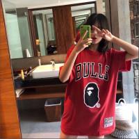 Bulls basket baju bape x nba tshirt