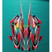 sticker striping motor yamaha jupiter z 2005 merah standar