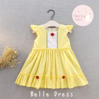 Baju / Kostum Anak Perempuan Disney Princess Belle (1,2,3,4 tahun)
