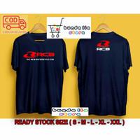 BAJU KAOS T-SHIRT RCB New Motorcycle T shirt Racingboy Kaos Balap - Navy, S