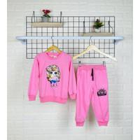 Sweater Anak 1-6 Tahun Baju Anak LOL LED Stelan Baju Anak perempuan - pink, 1-2Tahun