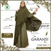 Baju Busana Gamis Muslim Wanita Perempuan Syari Terbaru Bandung HIJAU