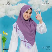 Jilbab instan Eskudo Cross Button Flower Arrafi AR 179 hijab kerudung