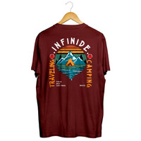Infinide T-Shirt OverSize TRAVELING CAMPING Original Limited Edition