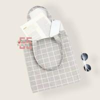 Tote Bag Kanvas / Totebag Murah / Tas Murah / Grid / Motif Kotak