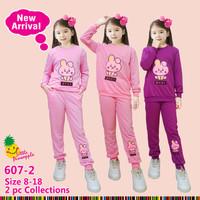 Baju Setelan anak perempuan merk little pineapple sz 5-11 tahun