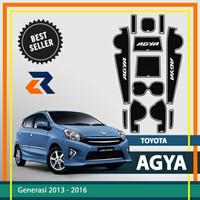 Aksesoris Mobil Door Groove Mat Toyota Agya/Anti slip rubber mat - Putih
