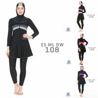 Baju renang muslimah model slimfit Edora sport