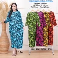 Longdress Batik Gamis Rayon Baju Tidur Ibu Menyusui