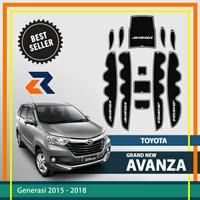 Aksesoris mobil Door Groove Mat Toyota Avanza /Anti slip rubber mat - Putih