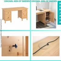 Lkea 155X65 Cm Wooden Office Desk Meja Kerja / Kantor Bahan Kayu Pinus