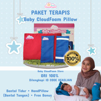PAKET TERAPIS Baby CloudFoam ORIGINAL - Bantal Terapis Anti Peyang