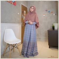 Gamis Dewasa Motif Hawwa Dress Seri C Original by Michan - grey, XS