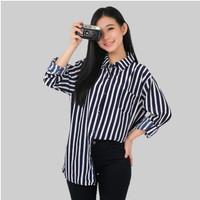 Monellina 06231 Baju Kemeja Atasan XXL Jumbo Lengan Panjang Wanita