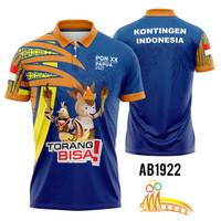 Baju Jersey Kaos PON XX Papua Indonesia Ada Ukuran Jumbo Keren Kancing