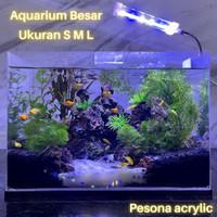 Aquarium Acrylic Ukuran Besar S M L / Akuarium Akrilik Jumbo Tebal 3mm