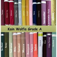 Kain Bahan Wolfis Woolpeach grade A Premium