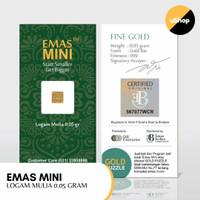 Emas Mini Logam Mulia 0.05 gram