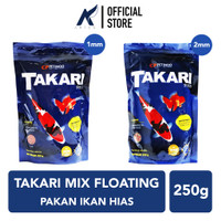 TAKARI Pelet-Pellet-Makanan Ikan Hias Mix Floating 1-2 mm 250 gram-gr