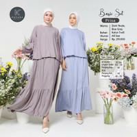 Setelan Baju Atasan Blouse Rok Panjang PRISA Busana Muslim By Kayana