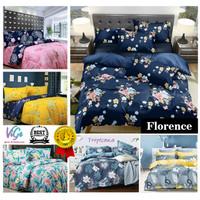 Vige Bedcover Set Katun Motif Bunga Florence Size Single   Bad Cover