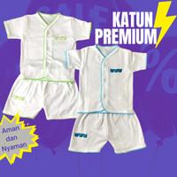 Setelan Baju Panjang Bayi Newborn 0 3 bulan Rumput Putih Laki Permpuan