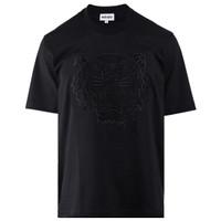 Kenzo Tiger Paris T-Shirt Full Bordir Black Cotton Quality Import