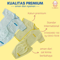 Setelan baju bayi pendek merk bon bon rumput warna 0 3 bulan