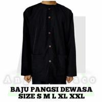 Baju Pangsi / Baju Pangsi Dewasa / Baju Pangsi Jawa Barat / Baju Adat - Hitam, S