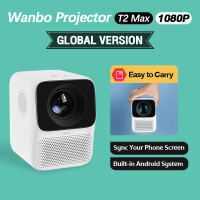 Wanbo T2 Max Smart Projector Android 1080p 4K Proyektor Mini Portable