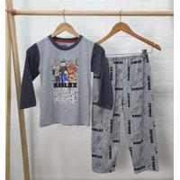 Setelan Baju Tidur Anak Laki Laki Katun Motif Roblox Abu2