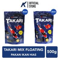 TAKARI Pelet-Pellet-Makanan Ikan Hias Mix Floating 2-5 mm 500 gram-gr
