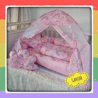 baby nest set - kasur bayi - kelambu tenda-bantal guling-matras bayi