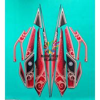 stiker striping motor yamaha nouvo z neo edition hitam-merah