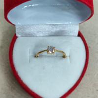 cincin mata 1 putih 1/2 gram emas muda