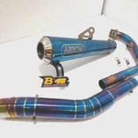 Knalpot Racing Arrow Gsxr150 R15v3 v2 CBR 150r Leher Bluemoon