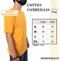 Kaos Kuning Kunyit / Busuk Polos Combed 24s Cotton Premium - S