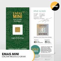 Emas Mini Logam Mulia 0.2 gram