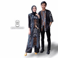 Baju Couple tenun etnik asmat kimono tunik - Kimono pria, S