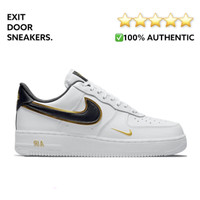 Nike Air Force 1 LV8 Double Swoosh White/ Metallic Gold 100% Authentic - 40