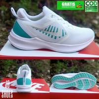 sepatu wanita nike running sport sneakers olahraga cewe lari senam - Putih hijau, 36