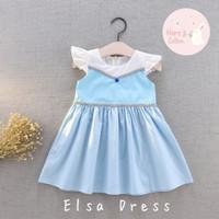 Baju Baby Anak Perempuan Disney Princess Elsa Frozen (1,2,3,4 tahun)
