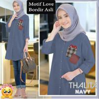 15652 15655 15658 Baju Atasan Tunik Muslim Wanita NEW THALITA JUMBO XL