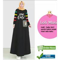 KINGS LOLI MAXI ( XL, 3 Warna ) Pakaian Maxi Jumbo, Baju Atasan Wanita - XL, Hitam