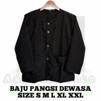 Baju Pencak Silat / Baju Pangsi /Baju Adat / Baju Pangsi Dewasa - Hitam, S