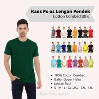 Baju Kaos Polos Sultan Lengan Pendek Cotton Combed 30s Warna Hijau