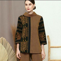 blouse batik atasan wanita ethnic tenun blanket mix lurik class daring