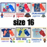 Baju tidur piyama kaos Anak laki JUMBO besar ABG remaja Printing baru - Lengan PANJANG